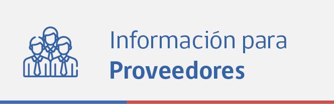 Informacion para proveedores